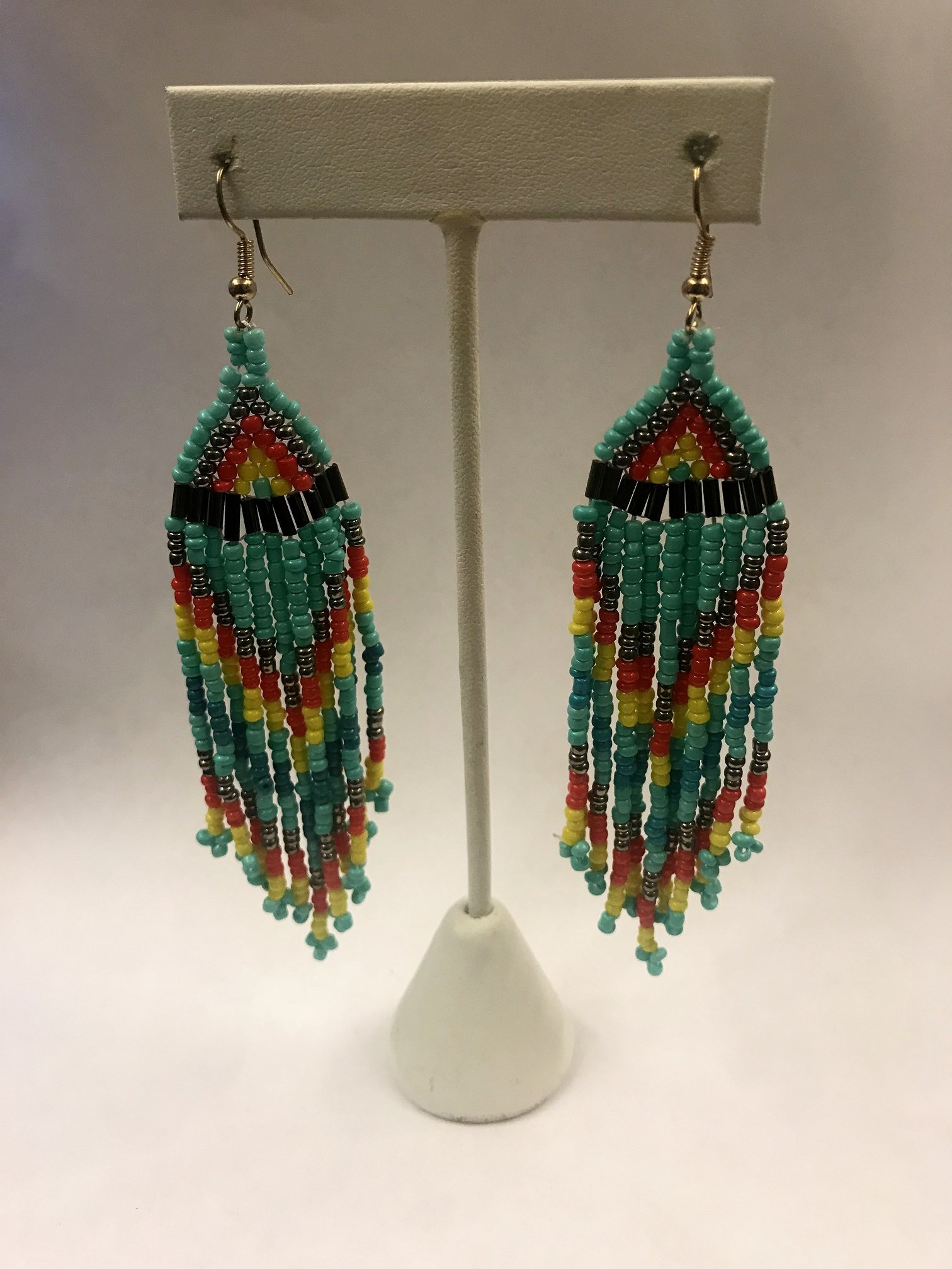 Beaded Fish Hook Earrings