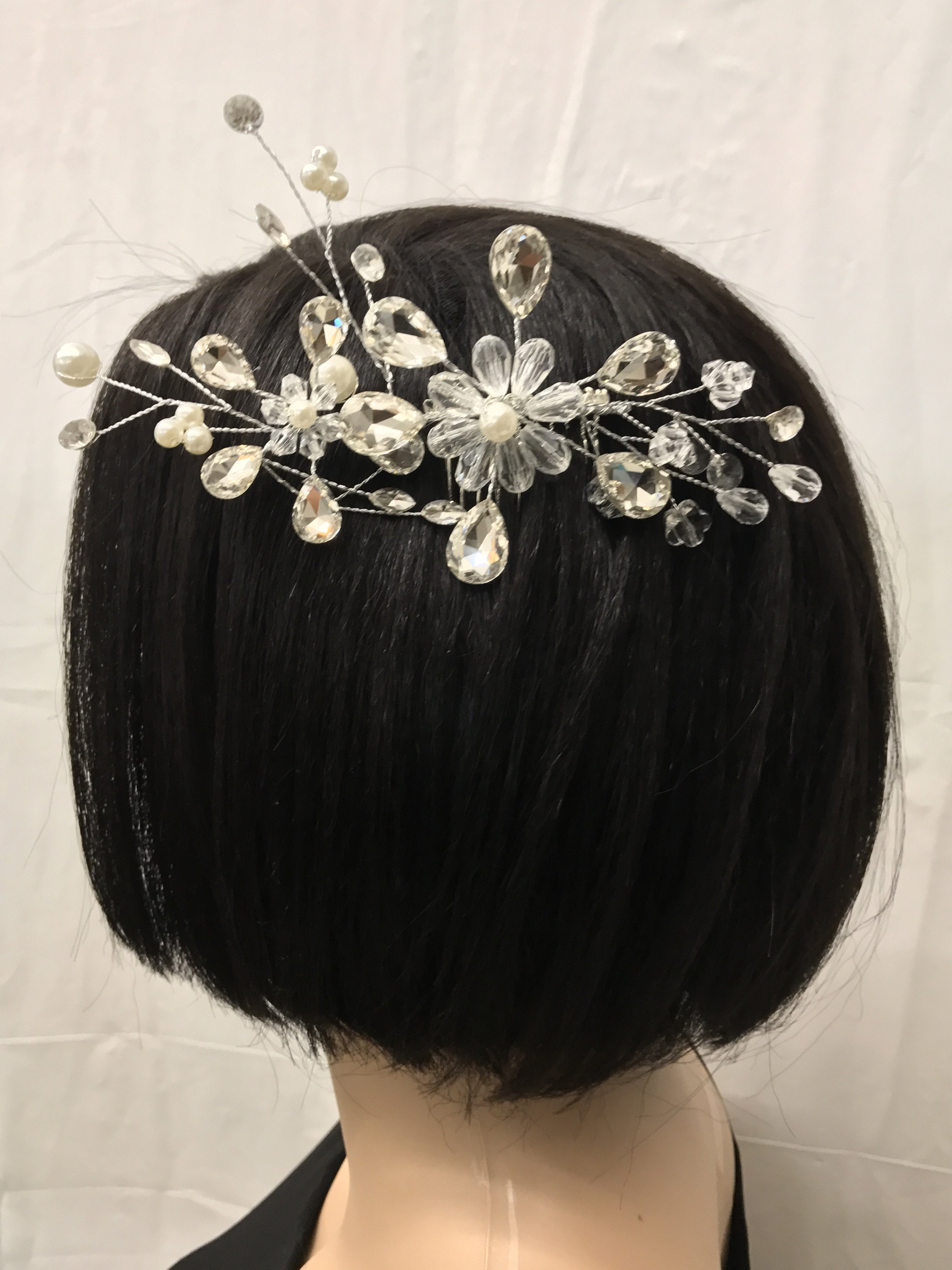 Hair Comb Silver Fashion Hair & Head Jewelry
